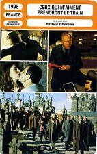Fiche Cinéma. Movie Card. Ceux qui m'aiment prendront le train (France) 1998