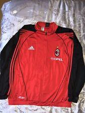 VTG Adidas Men's X-Large AC Milan Track Jacket Pants Suit Opel Red Black VGC
