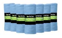 12 Pack Soft Warm Fleece Blanket or Throw Blanket - 50 x 60 Inch Light Blue