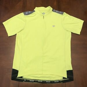 Pearl Izumi Men's Cycling Jersey Large Neon Yellow Bicycle Race Team SS Select