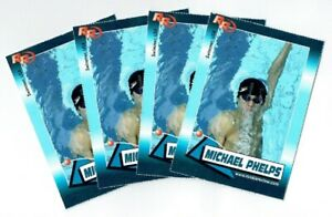 4) GOAT Michael Phelps 2004 Rookie Review Card Lot #101 Olympics USA Swimming