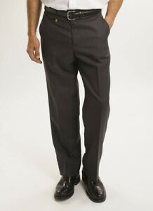 Jolliman Mens Gents Luxury Wool Blend Flat Front Trouser Casual Office Party