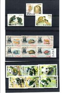 (AB208) WILD ANIMALS : GOOD SELECTION ALL CTO NEVER HINGED 3 SCANS
