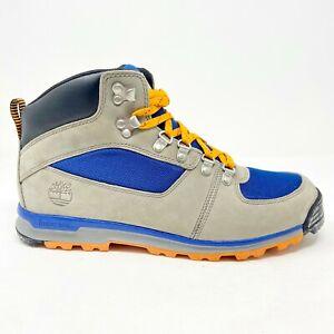 Timberland GT Scramble Mid Gray Blue Mens Waterproof Hiking Boots 2224R