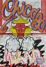 CHIEF (Milan 1985) CHICAGO BULLS on Milan map StreetArt as SEEN DONDI RD357 COPE