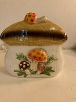 "Vintage Merry Mushroom 1978 Sears Roebuck Napkin Holder Made In Japan 5"" X 5"""