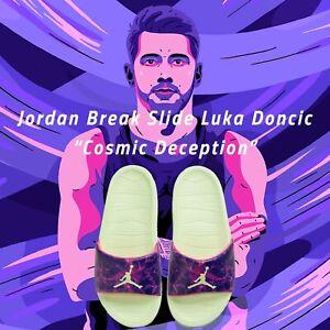 Nike Jordan Break Slide Luka Doncic Cosmic Deception Blue Men Sandal DJ9803-300