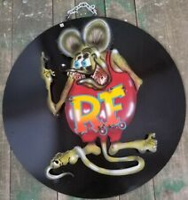 Metal RAT FINK Sign Mobile Texaco Gulf Gas Oil Garage Hot Rod Man Cave Recycled