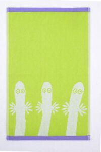 Moomin Hand Towel Hattifatteners Lime 30 x 50 Finlayson