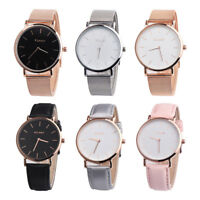 Women Fashion Gift Stainless Steel Band Analog Quartz Wristwatch Vintage Watch