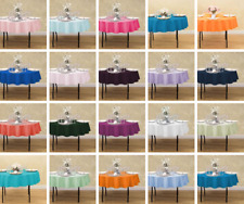 LinenTablecloth 70 in. Round Polyester Tablecloths, 33 Colors! Event&Wedding