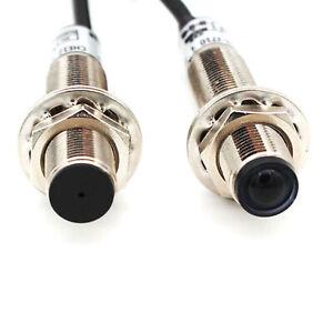 M12 NPN Lasersensor Lichtschranke Sensor für sichtbares Infrarotlicht 10-20M