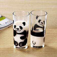 300ml Creative cute panda milk Glass cup Tea Mugs Drinking cup coffee cup