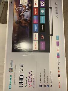 """Hisense A7300F 43"""" 4K LED Smart TV - Black"""