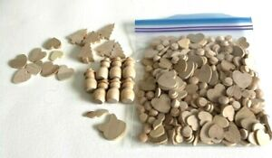 Large Bag Of Small Assorted Wood Pieces Misc. Shapes For Crafting Wood Working