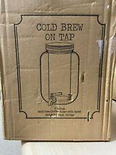 1 Gallon Cold Brew Coffee Maker Mason Jars Drink Dispenser 4 Qt Beverage Tea Jar