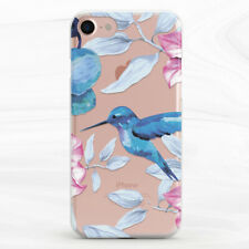 Watercolor Hummingbirds Floral Soft Case For iPhone 6S 7 8 Xs XR 11 Pro Plus Max