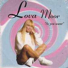 CD CARTONNE CARDSLEEVE LOVA MOOR AS YOU WANT (FRANCOIS VALERY) NEUF SCELLE