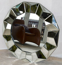 BRAND NEW IN BOX Large Round Multi Faceted Mirror 100cm