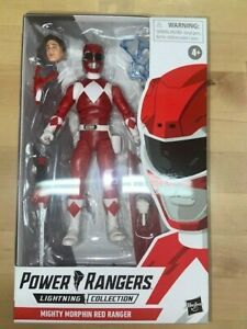 "Mighty Morphin Red Ranger 6"" Power Rangers Lightning Collection $9.99!!!"