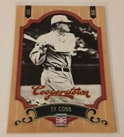 2012 Panini Cooperstown Ty Cobb Card #1 Detroit Tigers HOF Legend