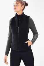Fabletics Sedona Fleece Vest Black Medium Polar Fleece NWT