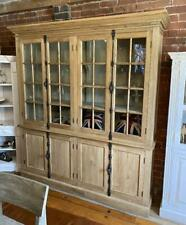 Solid Wood Display Cabinet / Bookcase - Glazed - 200cm x 220cm - Reclaimed Elm