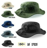 BattleBox UK Flag Sun Bucket Cargo Safari Bush Boonie Fishing Hat UPF 50+ Summer
