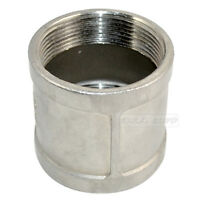 """2"""" female to 2"""" Female NPT 304 Stainless Steel threaded coupling Pipe Fitting"""