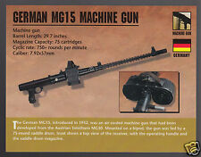 GERMAN MG15 MACHINE GUN WW2 Germany Gun Atlas Classic Firearms PHOTO CARD
