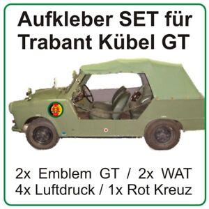 Aufkleber Set für Trabant Kübel Trabi Grenztruppen DDR