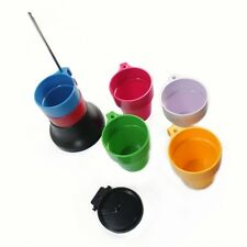 Rainbow Stackable Cascading Plastic Mug Cups Set 6pcs
