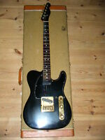 """FENDER limited BLACK and GOLD TELECASTER w/EMG"""" 1981 w/Had Case ship from JAPAN"""