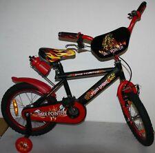 Kinderfahrrad 16 Zoll Rücktrittbremse Rad Fahrrad Stützräder Feuer design Sattel