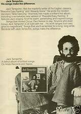 Jack Tempchin Makes The Difference 1978 Poster Ad mint