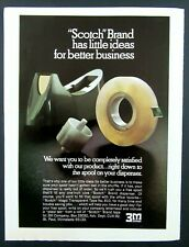 "1972 3M COMPANY ""Scotch"" Brand Tape Magazine Ad"