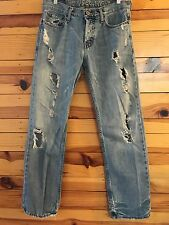 *AMERICAN EAGLE* Men's STRAIGHT Button-Fly Destroyed Jeans Size 30X30