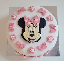 Edible Minnie Mouse Cake Topper Birthday Icing Personalised Pink unofficial