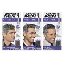3 Pack Just For Men Touch Of Grey Hair Colour Dye-GENUINE/FREE DELIVERY