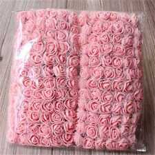 144pcs/bag Mini Artificial Fake Plastic Rose Flower Bulk Wedding Party Valentine