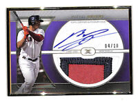 2021 Topps Definitive Rafael Devers 4/10 framed auto jumbo patch card Red Sox