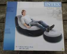 INTEX - aufblasbarer Fernsehsessel mit Fußstütze - 102 cm x 127 cm x 76 cm
