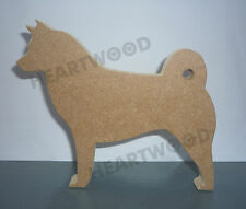 Akita dog shape in MDF (150mm x 18mm thick)/Animal