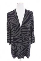 Chico's Travelers 3 Sz XL Navy Blue Metallic Silver Tunic Cardigan Jacket Womens