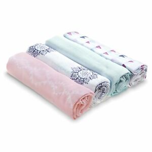 aden by aden + anais: pretty pink classic muslin swaddles multi pack 4