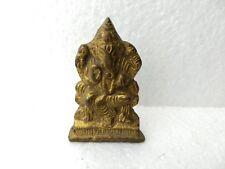 Vintage Brass God Lord Ganesh Ganesha Statue Deity Idol Figurine Diwali