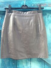 womens skirt size 8 brown faux leather mini zip up party Designer River Island