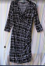 Ladies Papaya Black White Dress Size 10 Long Stylish Chic