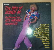 """HITS OF BONEY M PERFORMED BY HITS MACHINE UNLIMITED 12"""" RECORD FOR SALE !!"""