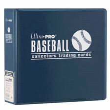 "Lot of 10 Ultra Pro 3"" Baseball Card Binder Collector's Album Blue Binders"